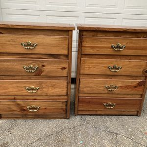 Two vintage solid pine dressers for Sale in Bowie, MD