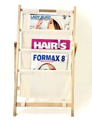 wood and fabric magazine rack for Sale in Coral Springs, FL