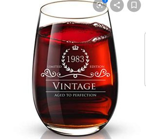 1983 wine glass birthday gift new in box collection.. for Sale in Los Angeles, CA