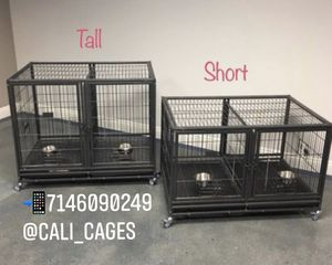 Dog pet cage kennel size 43 set of 2 with divider tray and feeding bowls new in box 📦 for Sale in Pomona, CA