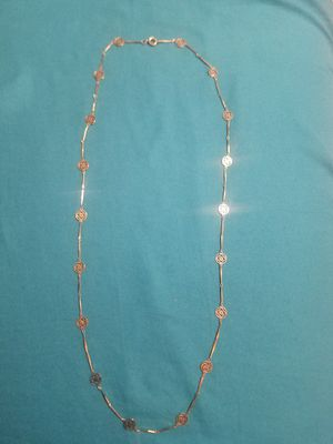 Gold Plated Long Filigree Chain Necklace New for Sale in Glendale, AZ