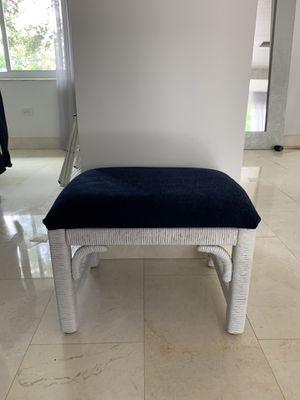 Blue velvet bench for Sale in Miami, FL