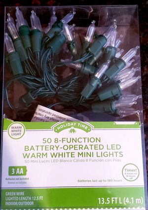 New Battery operated led warm white Christmas lights for Sale in Monrovia, CA