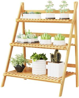MallBoo 3-Tier Bamboo Ladder Plant Stand,Plant Shelf for Sale in Chino, CA
