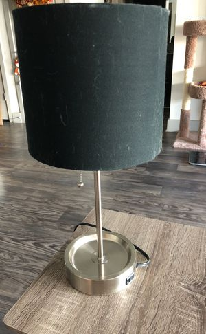 Lamp with Black Lamp Shade for Sale in Dallas, TX