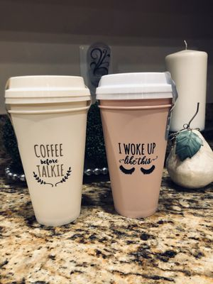 4 Brand New Reusable Cups ~ All For $10 for Sale in Manassas, VA