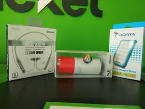 Headphones, Bluetooth Speaker, and Portable charger for Sale in Boston, MA
