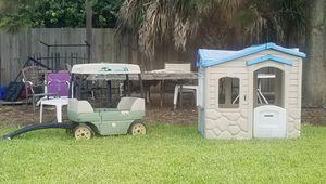 Little Tikes kids clubhouse and Step 2 Safari Wagon for Sale in Pompano Beach, FL