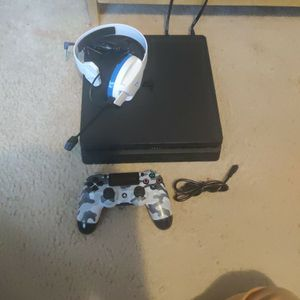 PS4 Slim 500 GB With Dual Shock Controller And Headset for Sale in Jonesboro, GA