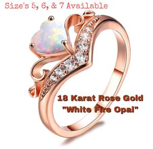 Fire Opal Ring / Sizes 5, 6, & 7 Available for Sale in Woodhull, IL