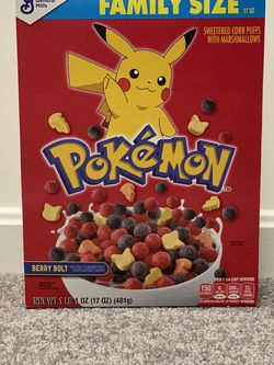 Pokemon General Mills Cereal Berry Bolt New Sealed Pikachu 25th Anniversary for Sale in Alexandria,  VA