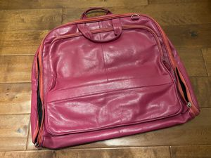 Leather Garment Bag for Sale in San Diego, CA