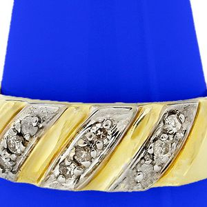 9554 DIAMOND RING MENS 0.09CT WEDDING BAND 14K GOLD 5.0 GRAMS for Sale in Costa Mesa, CA
