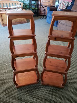 """TWO 38"""" WOOD SHELVES, TAP ON THE CAR AND SEE MY OTHER OFFERS for Sale in Albany, CA"""