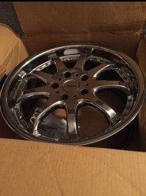 18 inch chrome rims and tires for Sale in Murfreesboro, TN