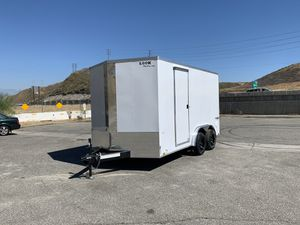 New 7.5x14 Look Enclosed Trailer * 12 inches extra height * for Sale in Redlands, CA