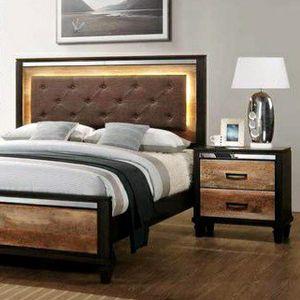 New Pierre Brown Queen Bedroom Set $39 DOWN Payment for Sale in Arlington, VA