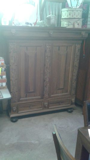 Antique European armoire made by hand almost 400 years ago out of Slovenia Oak. for Sale in San Marcos, CA