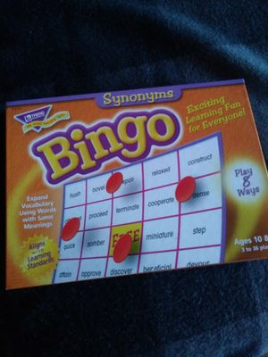Bingo learning game for kids - learn synonyms for Sale in Los Angeles, CA