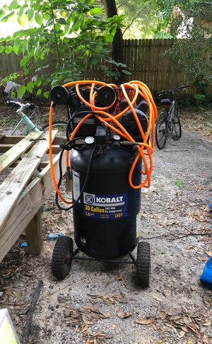 Kobalt 30 gallon 155 psi cast iron air compressor - works perfectly for Sale in Tampa, FL