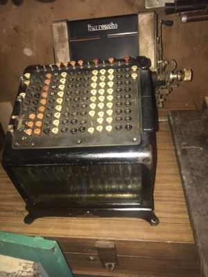 Vintage antique Industrial Adding Machine C. 1909 metal & glass for Sale in Houston, TX