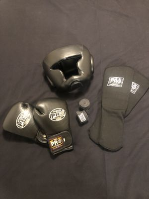 Boxing Gloves, Headgaurd, Shin Pads and hand wraps for Sale in Seattle, WA