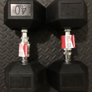Rubber Dumbbells 40 lb Pair. Brand New for Sale in Miami, FL