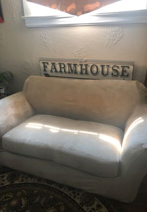 Love Seat Couch W/ Couch Cover for Sale in San Jose, CA