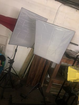 Photography equipment light diffuser large backdrop and tripod for Sale in Brentwood, PA