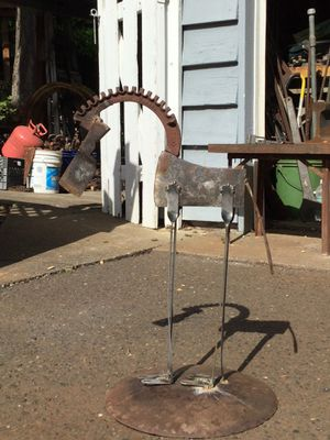 """Welded Yard Art """"Cave Man Horse"""" $45 Firm for Sale in Tacoma, WA"""