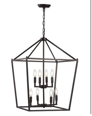 JONATHAN Y 8 LED Bulb Oil Rubbed Bronze Pendant Light - New! for Sale in Plainfield, IL