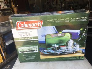 3 Burner Colman Camp Stove. Retails for 119. I want 75 for this brand new, never used stove !!! for Sale in Sicklerville, NJ