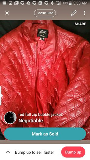 Red leather coat for Sale in Pittsburgh, PA