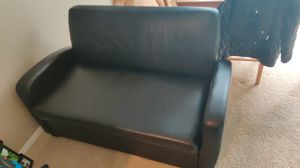 Black leather futon gone asap for Sale in Beaverton, OR