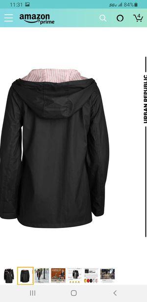 Urban Republic Women's Lightweight Vinyl Hooded Raincoat Jacket for Sale in Las Vegas, NV