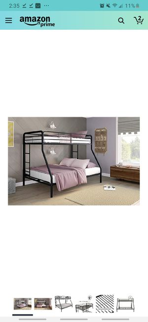 twin over full bunk bed metal// Litera//camarote// cama doble for Sale in Houston, TX