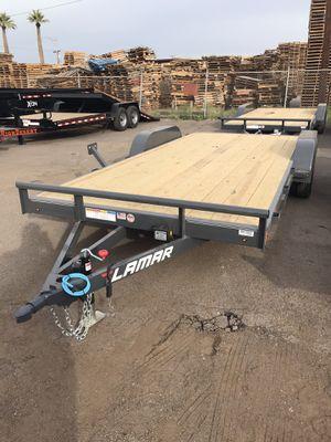 Lamar 18' wood deck car hauler 7k dovetail for Sale in Phoenix, AZ