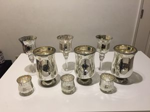 Ashland Mercury Glass Candle Holders for Sale in Fullerton, CA