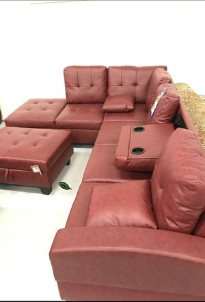 🍾🍾 Best Offer ‼ Pablo Red Sectional with Ottoman | U5700 277 for Sale in Jessup, MD