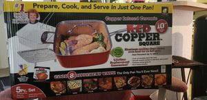 "Brand new in the Box 10"" Red Copper Square 5pc set w/Recipe Book for Sale in Chandler, AZ"