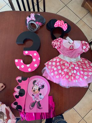 Minnie Mouse Birthday Party Supplies for Sale in El Paso, TX