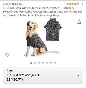 Fleece dog coat -brand new for Sale in Burbank, CA