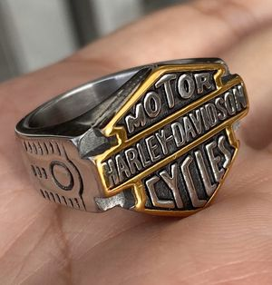 Mens Stainless Steel Motorcycle Club Harley Davidson Ring For Men Size 13 for Sale in Queens, NY
