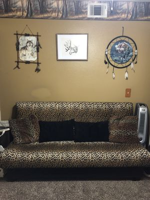 Leopard Print Folding Couch for Sale in Corona, CA