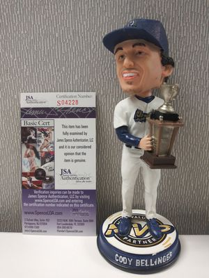 Los Angeles Dodgers Cody Bellinger Autograph Rookie Rancho Cucamonga Quakes Bobblehead. C.O.A By JSA for Sale in Santa Ana, CA