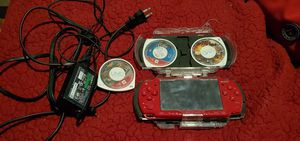 PSP with charger and 3 games and case for Sale in Las Vegas, NV