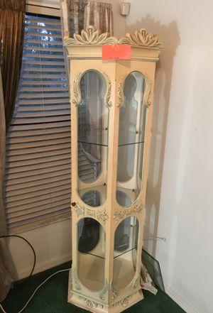 Nice Corner Cabinet Lights Up Has Light Antique for Sale in Deltona, FL