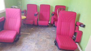 Theater Seats Rockers, and Drink Holders, with Custom buildt Risers for Sale in Potter, KS