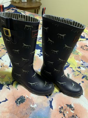 Heavy rubber rain boots with horses for Sale in Laurens, SC