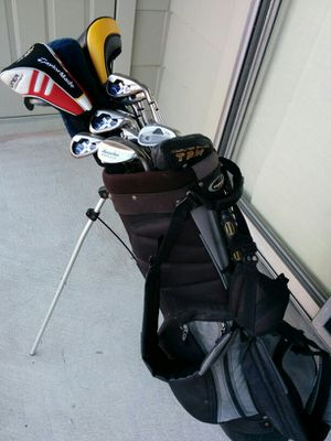 Golf Clubs w/ Stand-up Bag, Callaway Irons and Taylor Made Woods for Sale in Houston, TX